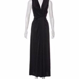 NWT L'Agence Black Sleeveless Maxi Dress L $368